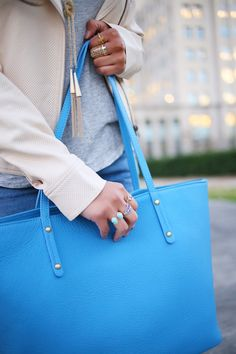 GiGi New York   Sky Blue Taylor Tote   Haute Off The Rack Fashion Blog