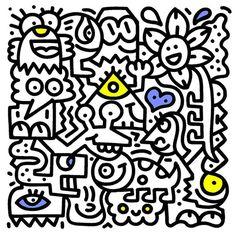Doodle, un gran exponente del Graffiti Spaghetti Doodle Wall, Doodle Art Drawing, Art Drawings, Graffiti Doodles, Graffiti Art, Doddle Art, Posca, Mandala Doodle, Graffiti Tagging