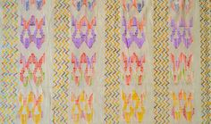 Rainbow colors Soft cotton dobby fabric Geometrical cotton sold by the yard