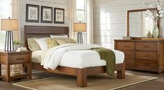 Urban Plains Brown 5 Pc Queen Slat Platform Bedroom from  Furniture