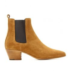 Saint Laurent Wyatt Suede Chelsea Boots (2.875 BRL) ❤ liked on Polyvore featuring shoes, boots, ankle booties, shoes - boots, tan, suede beatle boots, tan booties, tan suede boots, tan suede ankle booties and yves saint laurent booties