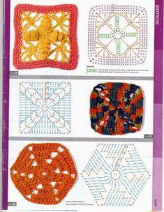 revistas de manualidades gratis Basic Crochet Stitches, Crochet Squares, Crochet Designs, Crochet Patterns, Crochet Gratis, Ribbon Design, Crochet Books, Irish Lace, Crochet For Kids