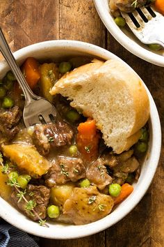Stovetop Beef Stew For Two (Dinner For Two) - Homemade In The Kitchen - Asian Recipes Beef Stew Recipe Stove, Beef Stew Stove Top, Stew Meat Recipes, Shrimp Recipes, Small Meals, Meals For Two, Recipes For Two, Easy Recipes, Batch Cooking