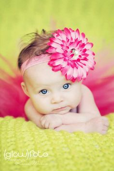 Baby with flower in hair