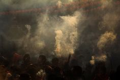 chinese new year incense burning