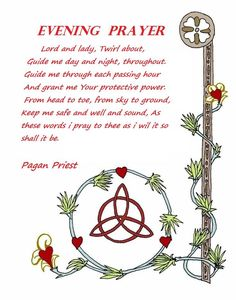 Book of Shadows:  #BOS Evening Prayer page.