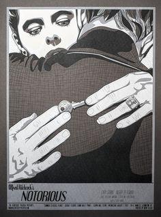 New Flesh N E Notorious Poster Print Mondo Hitchcock | eBay