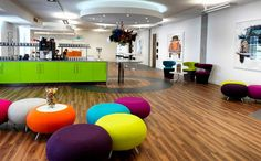Modern Office Space With Colorful Furniture