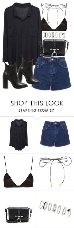 """Outfit for summer with shorts and a blouse"" by ferned ❤ liked on Polyvore featuring Raquel Allegra, Topshop, NYX, Lilou, Windsor Smith and Givenchy"