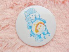 Vintage Retro 90s 80s Care Bears Wish Bear Rainbow Pastel Collectable Bear Pin Badge