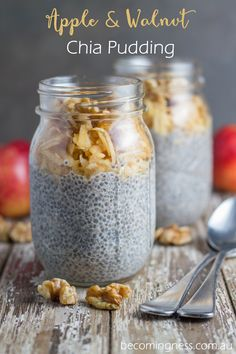 Apple & Walnut Chia Pudding #Becomingness