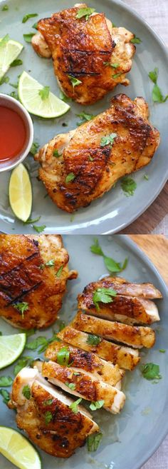 Tequila Lime Chicken – amazing chicken marinated with tequila, lime and garlic. This tequila lime chicken recipe tastes better than restaurant's | http://rasamalaysia.com