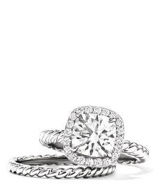 David Yurman Capri engagement ring...seriously beautiful!!!!
