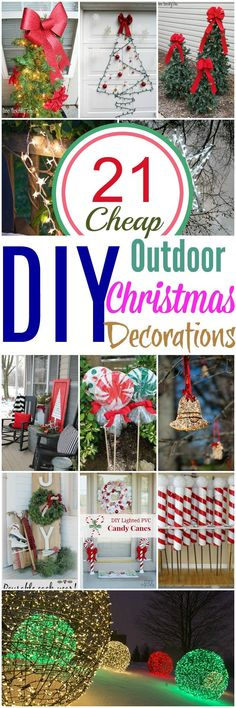 19 Brilliant ideas for Outdoor Christmas decorations 1 Giant