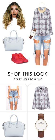 """Untitled #94"" by priscillay5 on Polyvore featuring Rails, NIKE, Givenchy, Daniel Wellington and Panacea"