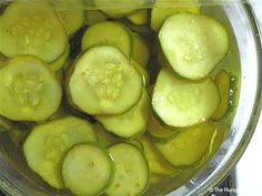 Overnight Refrigerator Bread and Butter Pickles