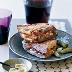 Grilled Cheese and Andouille Sandwiches