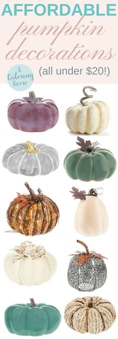 decorating for fall can be cheap! Here are affordable fake pumpkin decorations under $20!