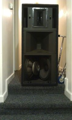 """One of my logic system 3 way boxes. """"Bad ass"""" Sub Box Design, Speaker Design, Loudspeaker, Audiophile, Speakers, Boxes, Home Appliances, Events, Cabinet"""