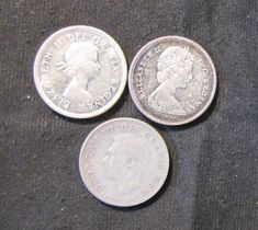 Lot of 3 Canada Silver Quarters – 1951, 1963, 1967  Price : $19.99  Ends on : 1 week Order Now