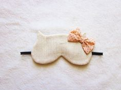 cutest eye mask ever - Fancy Cotton Tweed Cat Eye Mask by Naomilingerie on Etsy, $23.00