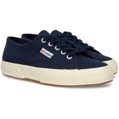 SUPERGA Cotu Classic shoes (225 RON) ❤ liked on Polyvore featuring shoes, navy, scarpe, superga, navy blue shoes, superga shoes, rubber sole shoes and navy shoes
