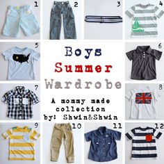 DIY Boys Summer Wardrobe {a collection}  (and other T-shirt tutorials linked at the bottom)