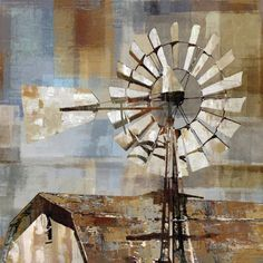 Shop for Long Barn Windmill by Mark Chandon Canvas Art Print. Get free delivery On EVERYTHING* Overstock - Your Online Art Gallery Store! Stretched Canvas Prints, Canvas Art Prints, Painting Prints, Canvas Wall Art, Diy Canvas, Farmhouse Paintings, Farm Paintings, Canvas Paintings, Watercolor Paintings