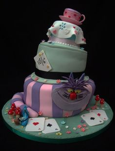Mad Hatter Cake  Cake by FancyCakesbyLinda