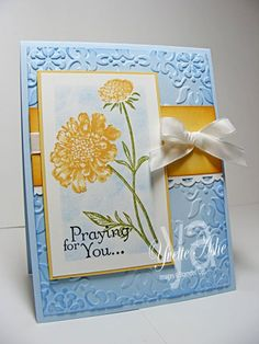 Praying-for-You-Sympathy---Field flowers, thoughts and prayers, P;bashful blue, so saffron, w. white. I; stifle blue, so saffron, more mustard, old olive, bulk. station.