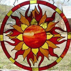 ٠•●●♥♥❤ஜ۩۞۩ஜஜ۩۞۩ஜ❤♥♥●  My stained glass sun...  ٠•●●♥♥❤ஜ۩۞۩ஜஜ۩۞۩ஜ❤♥♥● #StainedGlassMoon #StainedGlassMandala