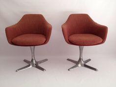 Mid Century Modern Burke Swivel Tulip Arm Chair