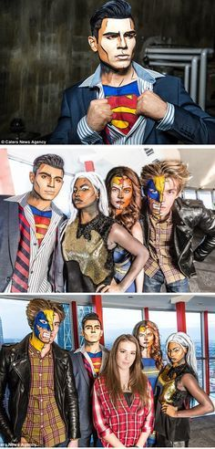 The makeup artist who transforms real-life people into comic book superheroes and villains (Canada)
