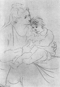 Pablo Picasso - Mother and son 1