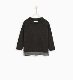 TEXTURED SWEATER WITH HEM ZIPS - Available in more colours