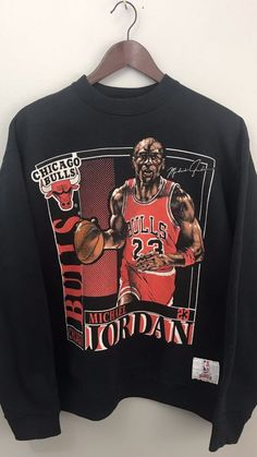 bdbe5d396630d2 Vintage Michael Jordan Chicago Bulls Nutmeg Double Sided Crewneck  Sweatshirt L  MichaelJordan Michael Jordan Clothing