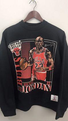 b17bc4d0f9d91d Vintage Michael Jordan Chicago Bulls Nutmeg Double Sided Crewneck  Sweatshirt L  MichaelJordan Michael Jordan Clothing