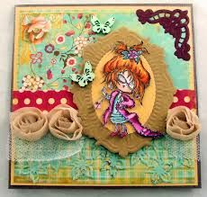 """Hello lovelys , another Card with the stylish Daisy ,with the new fabulous design paper from June -Marianne Pretty Paper bloc """"GardenParty"""". Marianne Design Cards, Gingerbread, Diva, Kids Rugs, Frame, Tags, Google Search, Home Decor, Homemade Home Decor"""