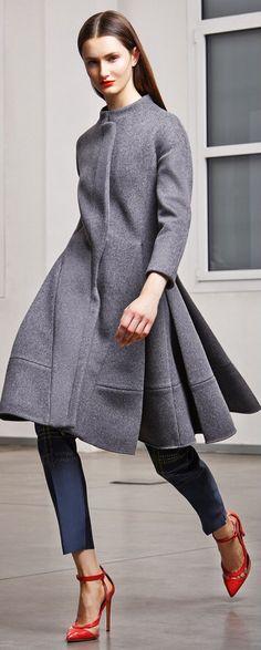 Antonio Berardi ~ Pretty Grey Top Coat w Back Pleats