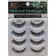 THE Best 4 Pairs Ardell Demi Wispies Natural Multipack False Eyelashes Fake Eye  #Ardell