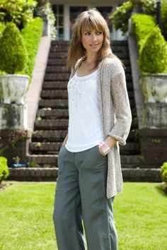 Casual, comfy but a bit of sparkle fun.   Not crazy about these pants with the long sweater but I dig the sweater.    Casual Fashion For Women Over 50 | Spring Fashions Women on Women S Designer Wear Casual Clothing Dresses ...