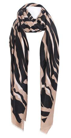 Black and Beige Zebra Print Scarf / Sarong - £19.99 Gorgeous silky feel zebra print scarf. Also looks fabulous worn as a sarong.