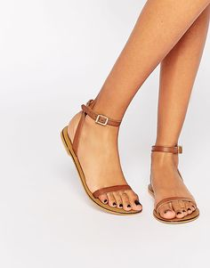 ASOS+FINLAY+Leather+Flat+Sandals