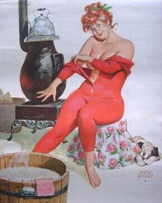 Wall Art Print- Art Reproduction Vintage Sexy Pin-up Girl Vintage Sexy Plus-size Pin-up Girl Duane Bryers Hilda Print 8 x Arte Pin Up, Pin Up Art, Curvy Pin Up, Pin Up Girl Vintage, Vintage Soul, Vintage Art, Modelos Plus Size, Calendar Girls, Pin Up Girls