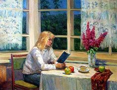 Mulher lendo, 2002 Stanislav Brusilov (Rússia, 1976) óleo sobre tela