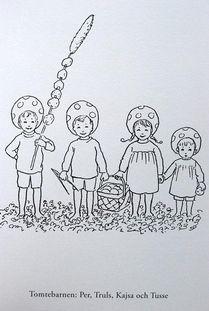 Målarbok Elsa Beskow - Tomtebobarnen