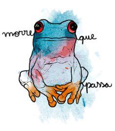 Arte MORRE QUE PASSA... de Poesia De Ex | Disponível em camiseta e poster. Só na @toutsbrasil