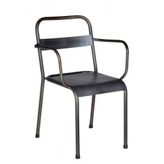 Industrial Iron Chair w/Arms