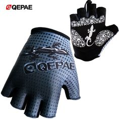 QEPAE Outdoor Full Finger Gecko Anti-Slip Gel Cycling Driving Hiking Gloves