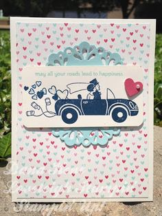Dana Lewis Independent Stampin' Up! Demonstrator Amore Farewell Car Card